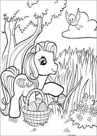 my little pony easter coloring pages within omeletta me