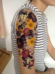 colorful floral tattoo design for men half sleeve cool temporary