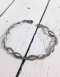 bracelet infinity images Sterling silver marcasite infinity link bracelet silver in the city jpg