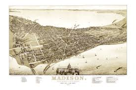 Map Of Time Amazing Vintage Map Of Madison Wisconsin In 1885 Knowol