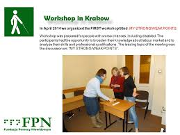 under the table jobs for disabled workshop in krakow april 2014 my profession my job my future