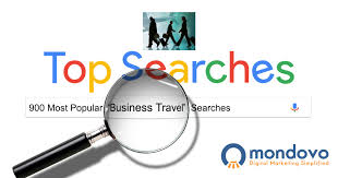The most searched business travel keywords in google mondovo
