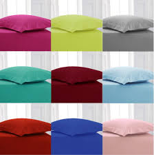 plain polycotton fitted bed sheets single double king super king