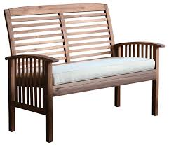 Acacia Wood Outdoor Furniture by Acacia Wood Patio Loveseat Bench Craftsman Outdoor Benches