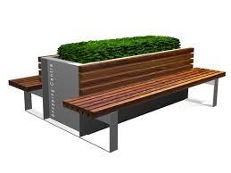Planter Bench Seat Planter Bench Google Search Urban Furniture Pinterest