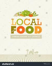 from farm to table local food farm table organic vector stock vector 2018 217304434