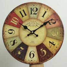 Home Decor France Mdf Wooden Wall Clocks France Paris Antiqued Digital Wooden Clock