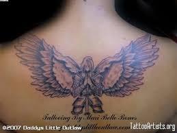 48 wonderful angel tattoos on upper back