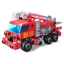 amazon com meccano junior rescue fire truck with lights and