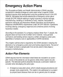 emergency action plan template efficiencyexperts us