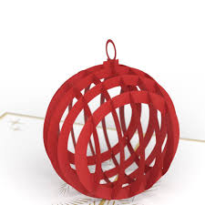 holiday ornament 3d christmas pop up card lovepop