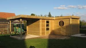 Gloriette De Jardin En Bois Abri De Jardin Moderne Contemporain En Sapin Rouge Du Nord Toit
