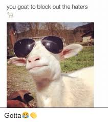 Funny Hater Memes - you goat to block out the haters gotta funny meme on me me
