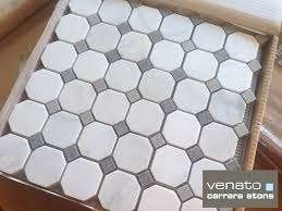 carrara venato gray dot mosaic floor and wall tile the builder