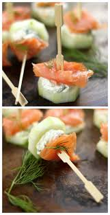 light appetizers for parties smoked salmon and cream cheese cucumber bites recipe light