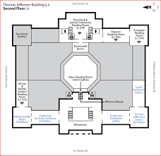 Exhibit Floor Plan Jefferson Building Second Floor Library Of Congress
