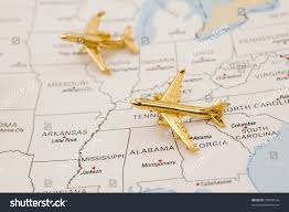 Unitrd States Map by Planes Flying Over United States Map Stock Photo 35669164