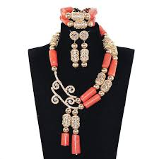 pendant necklace bead images African coral jewelry sets quality real coral beads pendant jpg