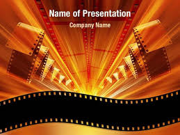 movie themed powerpoint template cinema strip flyer template
