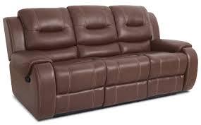 Genuine Leather Reclining Sofa Nick Genuine Leather Reclining Sofa Brown The Brick Alley Cat Themes
