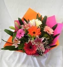 Oriental Lilies Mixed Gerbera U0027s And Oriental Lilies Woodlea Florists