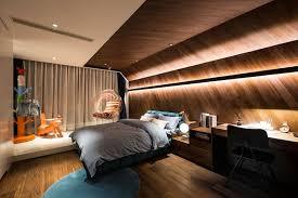 revetement plafond chambre revetement mural bois chambre idées décoration intérieure