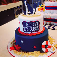 a nautical baby shower ahoy it s a boy nautical cake cake and babies