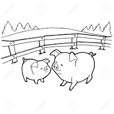 cartoon coloring pages pig cartoon coloring pages vector royalty free cliparts vectors