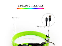RGB Led Dog Collar Led Rainbow Dog Collar Best USB Rechargeable