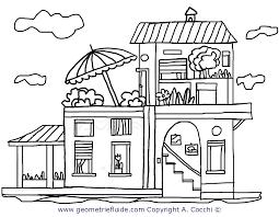 casa disegno casa a due piani da colorare casa e oggetti da colorare