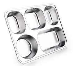 Stainless Steel Buffet Trays by 5 Compartment Meal Tray With Lid Stainless Steel Buffet Trays