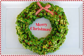 sticky x mas corn flake wreath