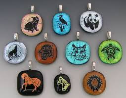 How To Make Fused Glass Jewelry - custom laser etched animal dichroic fused glass pendants by
