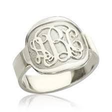 monogrammed ring personalized monogram rings