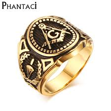 male rings vintage images 2018 hot vintage 316l stainless steel men ring gold free mason jpg