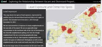 Crime Spot Map Areas Of Vacancy In Cleveland Overlap With U201chot Spots U201d Of Violent