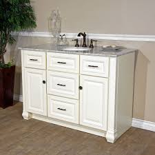 Bellaterra Home  Cream White Finish Bathroom Vanity Genuine - Bella 48 inch bathroom vanity white