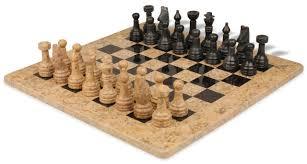 amazon com classic coral stone u0026 black marble chess set with 16