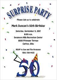 surprise 50th birthday party invitations vertabox com