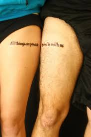 matching quote tattoos for couples matching tattoos for