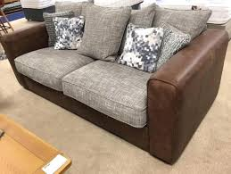 Sofa Leather Fabric Leather And Fabric Sofa Picture Gradfly Co