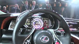 lexus lf lc features lexus lf lc interior at naias 2012 youtube