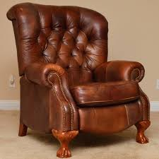 Leather Armchair Ebay Recliners Beautiful Brown Leather Recliner For Inspirations