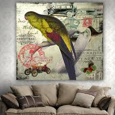 euro style classic home decor wall hanging blanket tapestry parrot