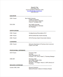 Sample Resume For A Job by Pharmacist Resume Berathen Com
