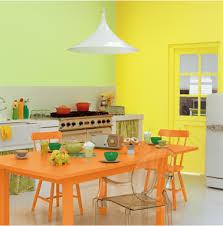 peinture orange cuisine cuisine couleur peinture orange et jaune