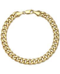 cuban chain bracelet images Macy 39 s cuban chain bracelet in 14k gold bracelets jewelry tif