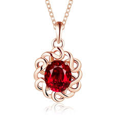 gold necklace collection images New collection hollow round flower design normal series pave red jpg