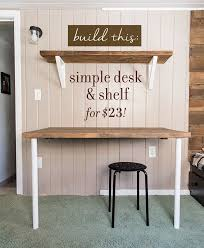 Diy Cheap Desk Simple Diy Wall Desk Shelf Brackets For 23 Desk