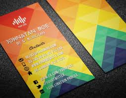 colorful business card template landisher